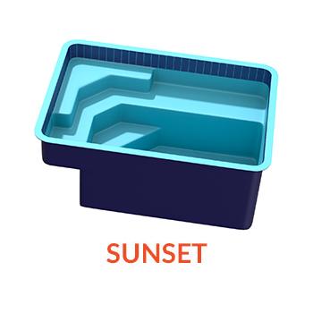 Sunset Pool Shell Atlantic Pools